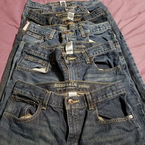 Lot of 5 pair of boys Sears Jean's size 14 husky